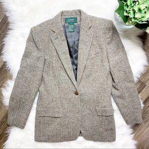 • Lauren Ralph Lauren Wool Career Blazer •